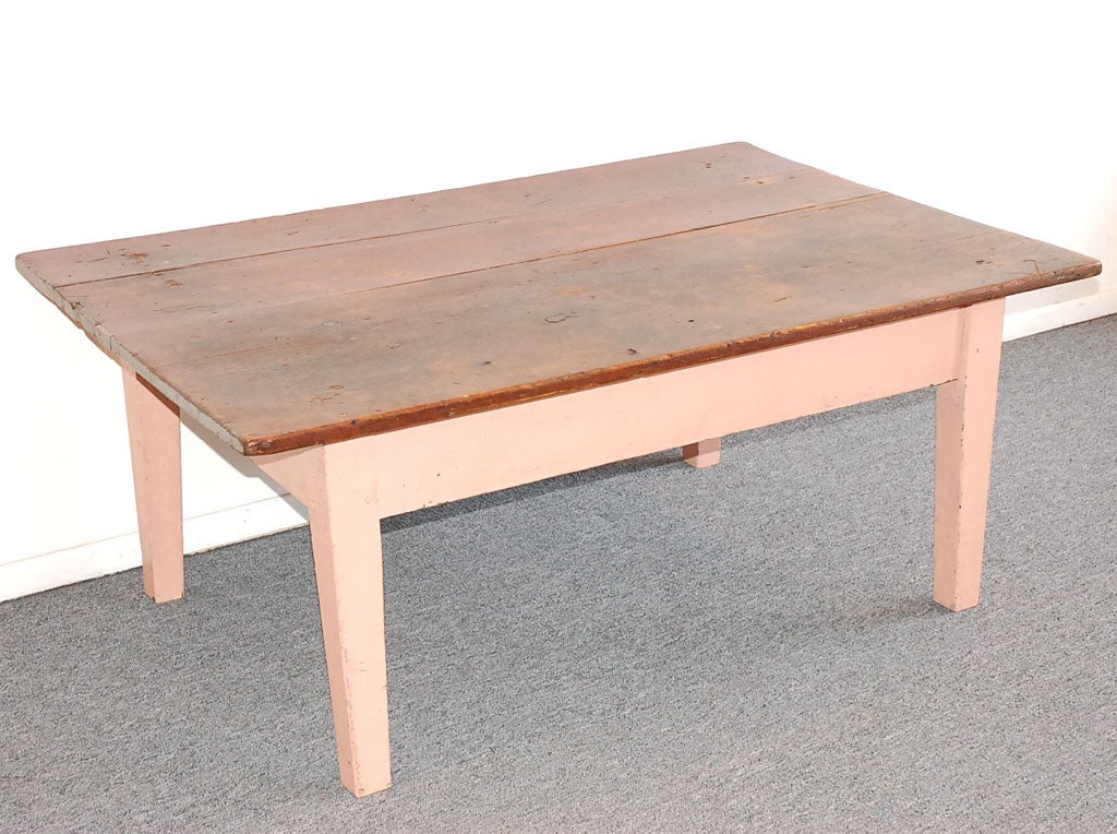 19thc Original Pink Painted Farm Coffee Table From New Englan At 1stdibs