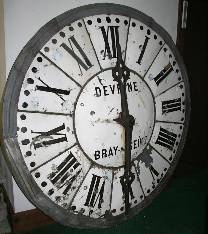 Black And White Clock Face At 1stdibs