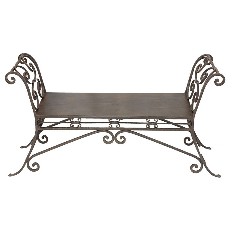 Wrought iron indoor bench 28 images rustic solid teak for Bathroom discount fulham
