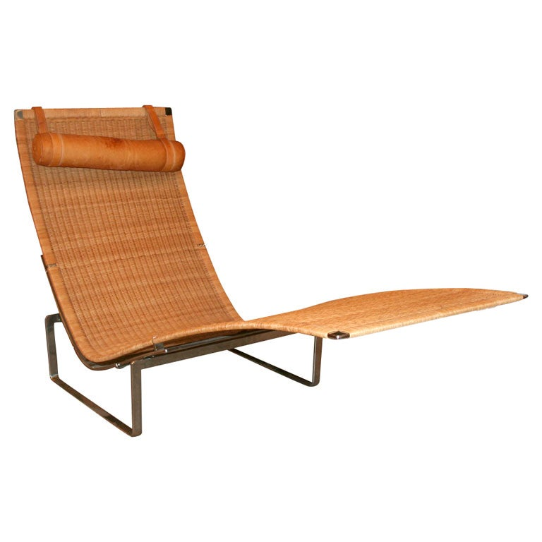 Poul kjaerholm pk24 chaise lounge mfg fritz hansen at for Art nouveau chaise lounge