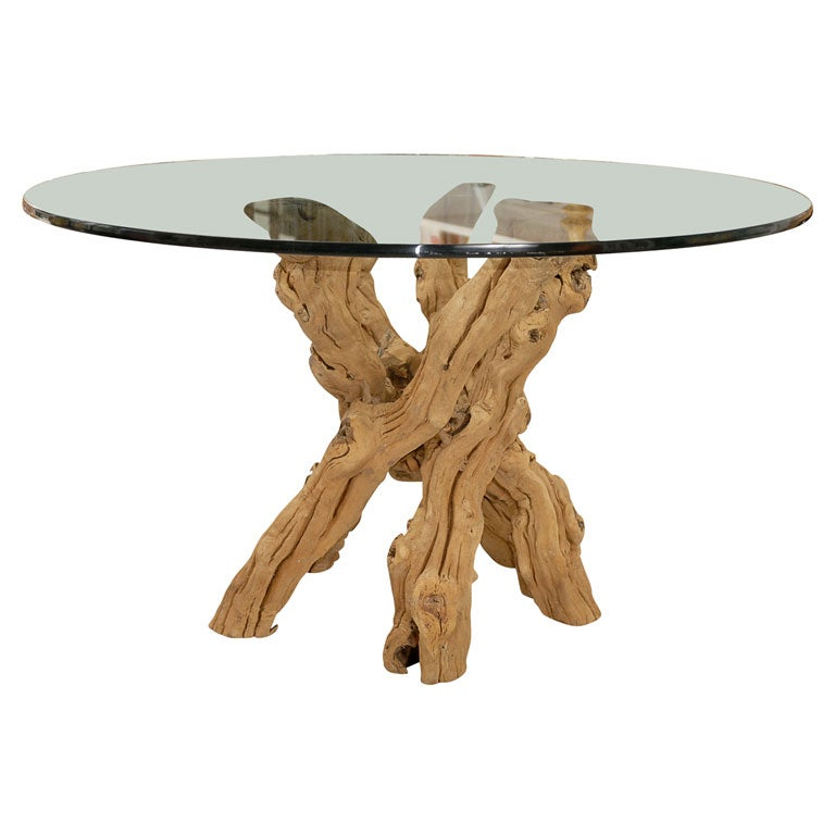 Driftwood Dining Table At 1stdibs