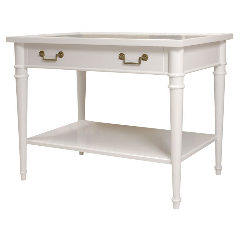 White painted end table at 1stdibs for White end tables