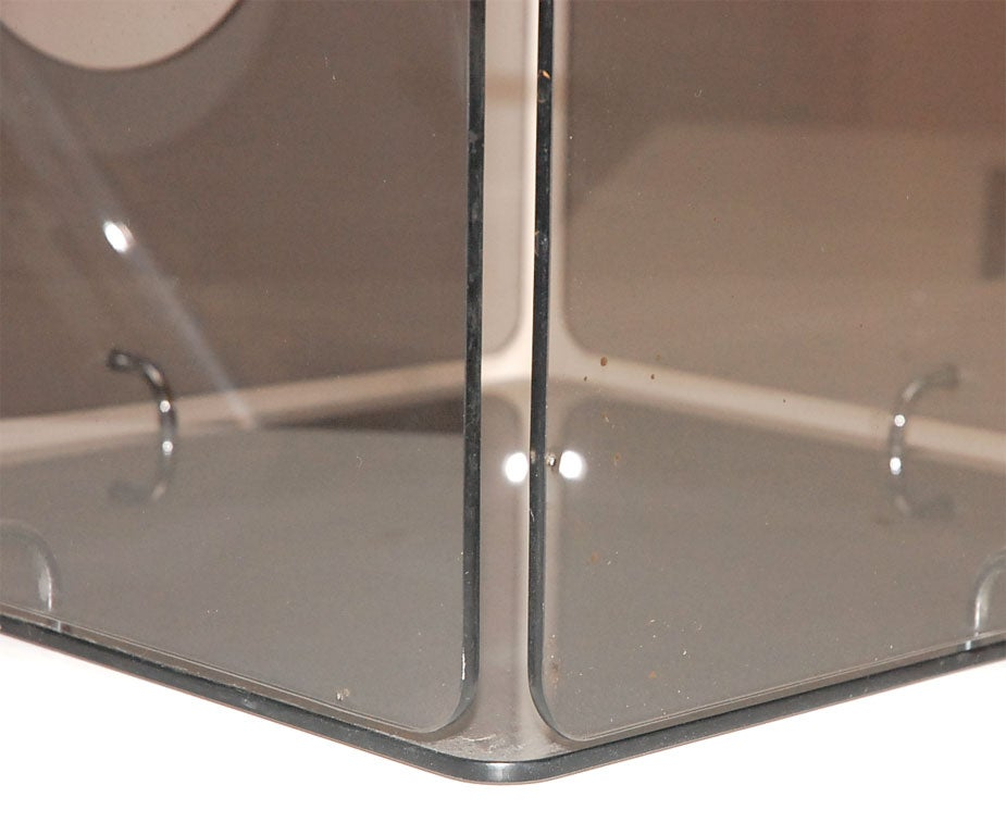 Smoked Glass Cube Table By Gerald Mccabe For Eon Furniture
