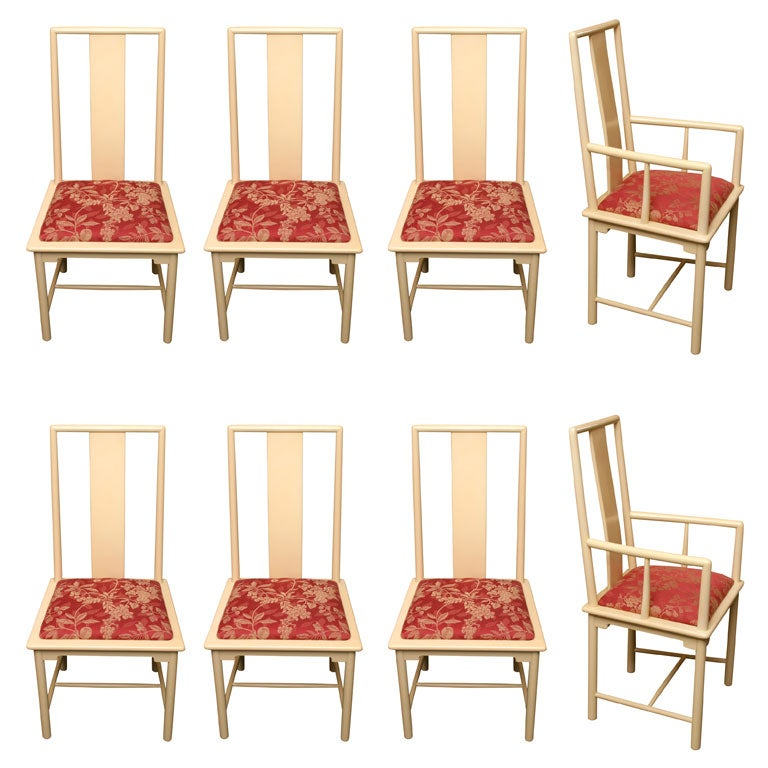 elegant italian lacquer asian taste dining chairs at 1stdibs