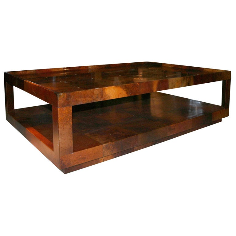 Parchment Coffee Table By Karl Springer American Circa 1980 At 1stdibs