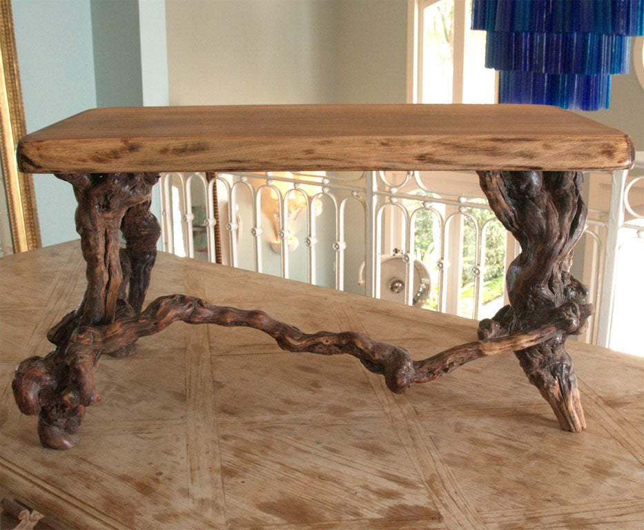 Low table with gnarled vine legs at 1stdibs for Table and vine