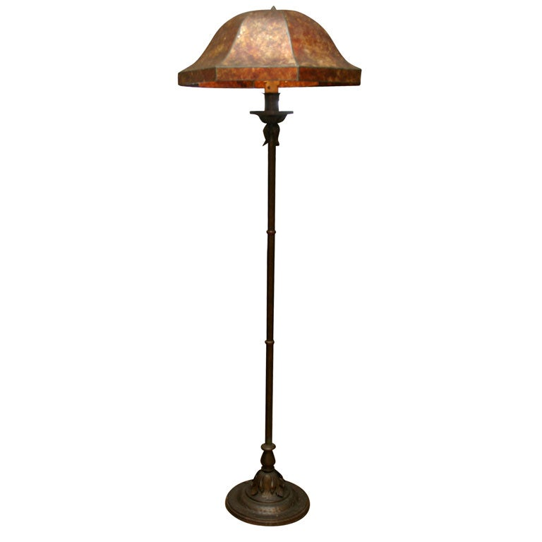 floor lamp with octagonal mica shade for sale at 1stdibs. Black Bedroom Furniture Sets. Home Design Ideas