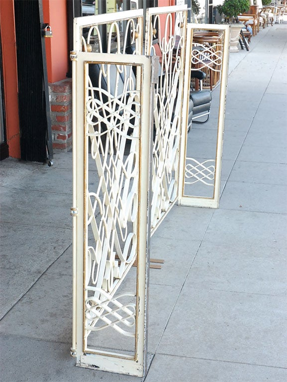 1940s French Wrought Iron Rene Prou Style Gates For Sale At 1stdibs