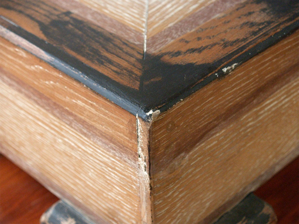 massive parquet oak ceruse dining table at 1stdibs. Black Bedroom Furniture Sets. Home Design Ideas