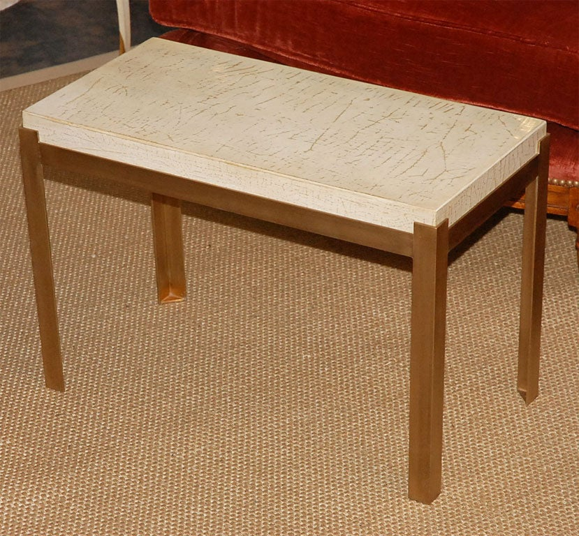 Pair Of Ivory Lacquer Sofa Side Tables Or Coffee Table At 1stdibs