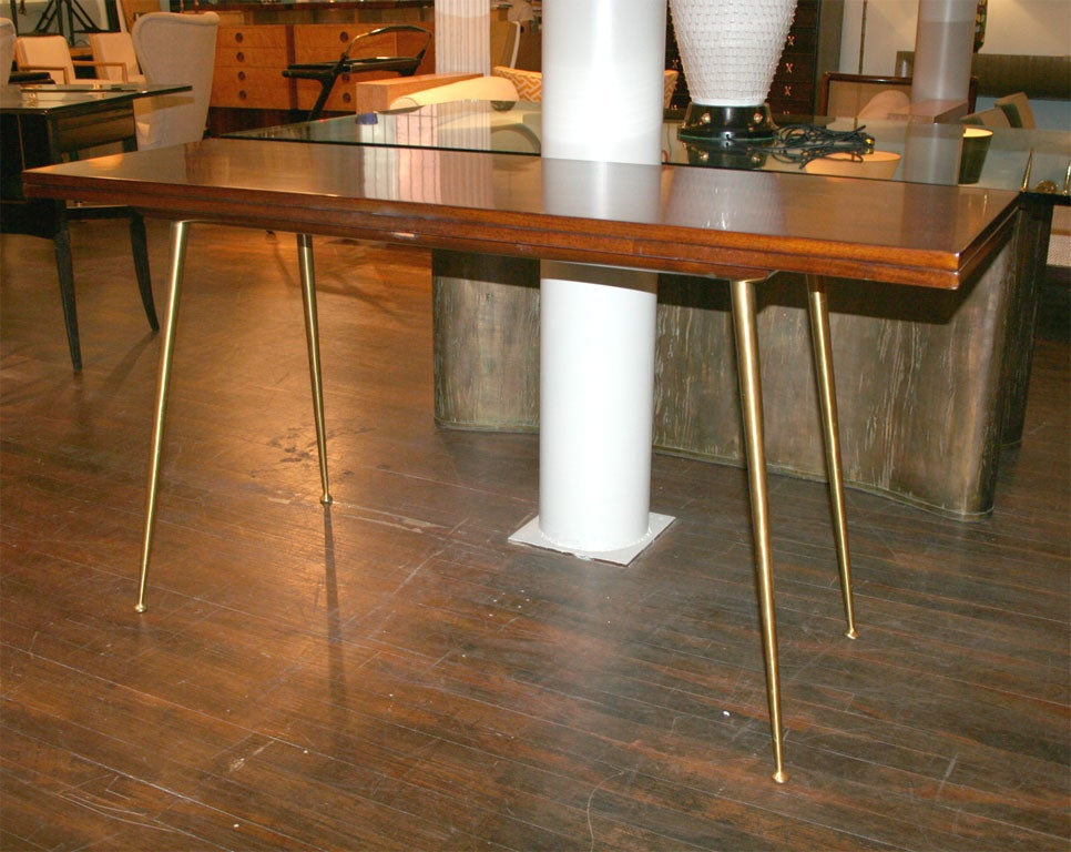 Flip top console table by t h robsjohn gibbings for for Table th rotate