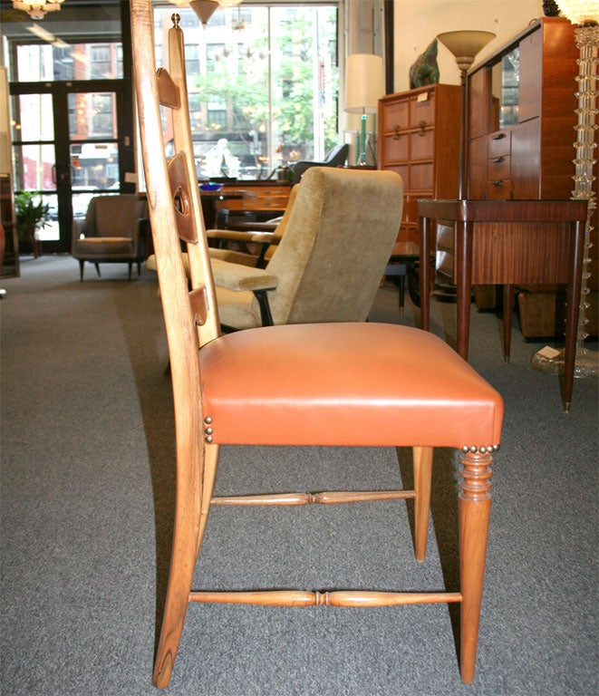 Set Of Six Dining Chairs Designed By Paolo Buffa Made In