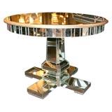 Custom Mirrored Center Hall Table