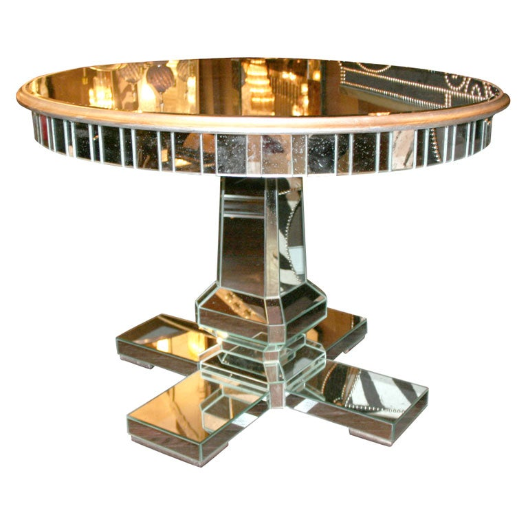 Custom Mirrored Center Hall Table 1