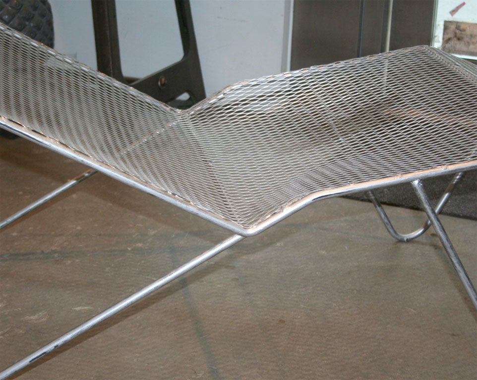 American 50 39 s mesh chaise lounge at 1stdibs for Chaise 50 s