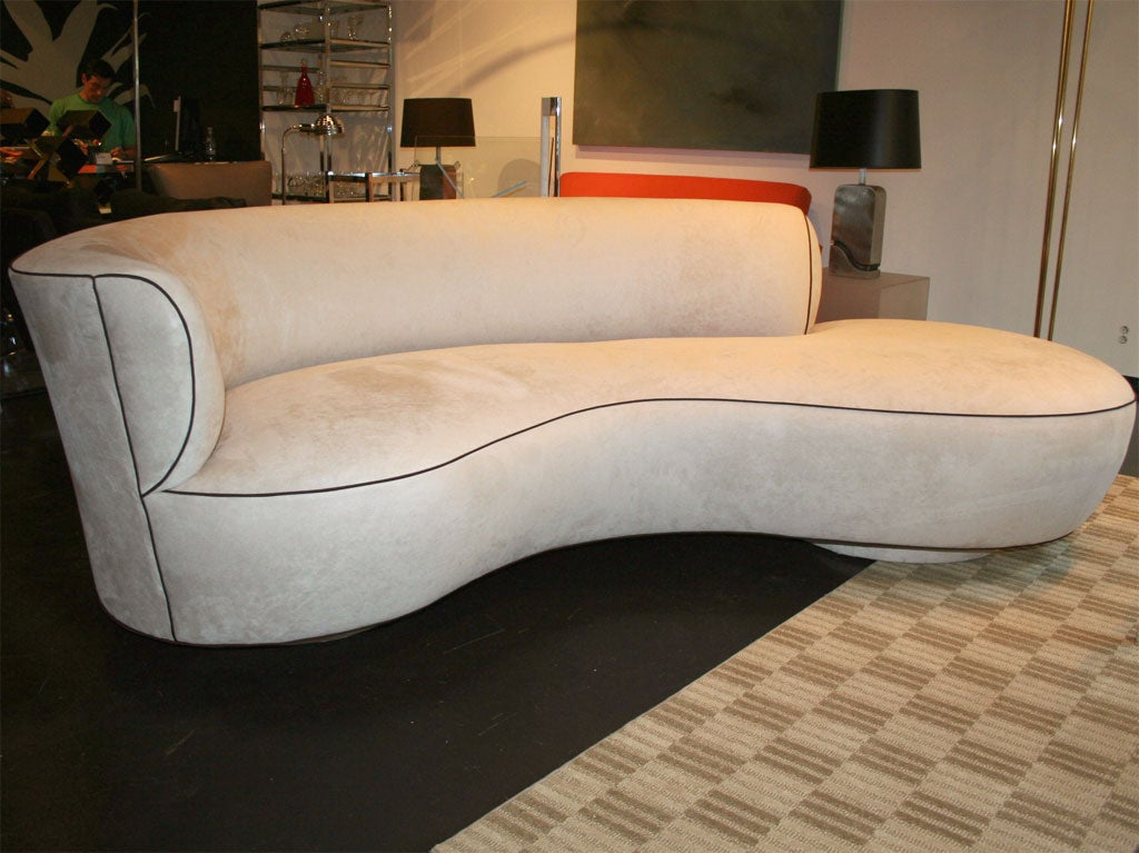 Unique kidney shaped sofa at 1stdibs for S shaped sectional sofa