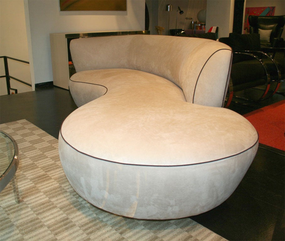 Unique Kidney-Shaped Sofa At 1stdibs