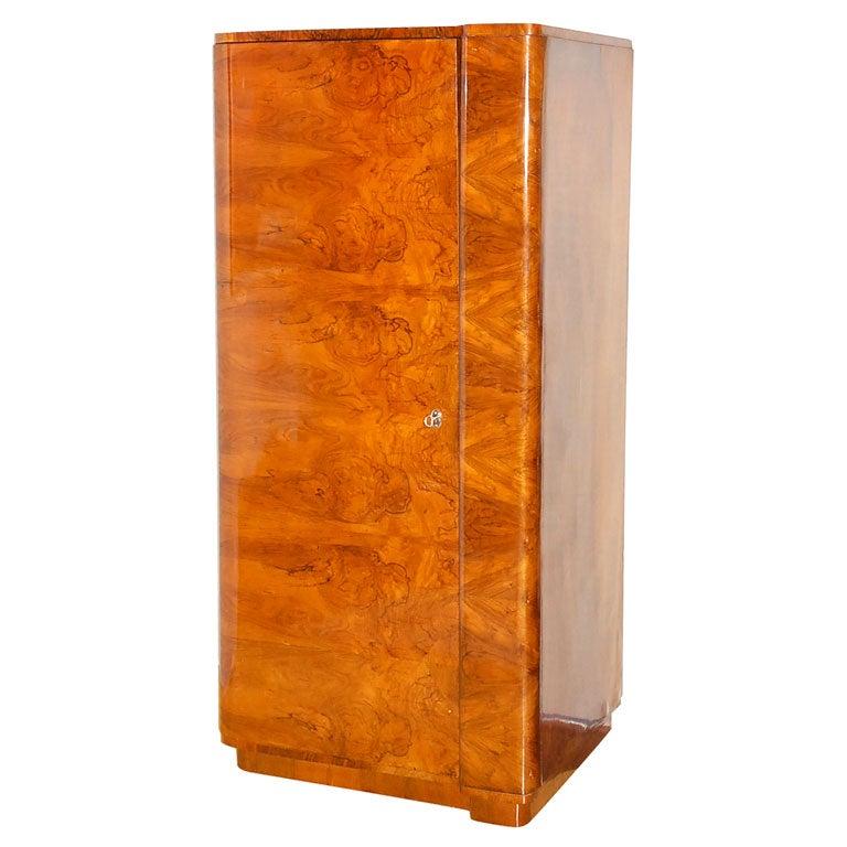 Art Deco Burl Wood Armoire At 1stdibs