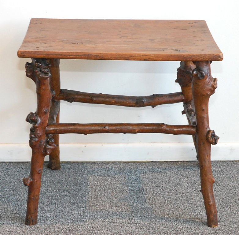 Root End Table: 19THC ROOT/HICKORY SIDE TABLE At 1stdibs