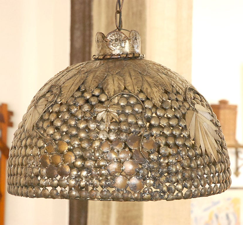 Vintage Mexican Tole Hanging Light Fixture At 1stdibs