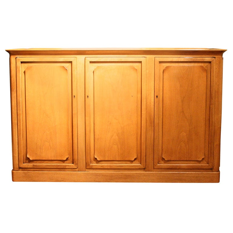 Dunbar bleached walnut sideboard server cabinet at 1stdibs for Bleached wood kitchen cabinets