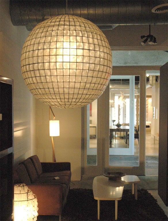 capiz shell globe for sale at 1stdibs. Black Bedroom Furniture Sets. Home Design Ideas