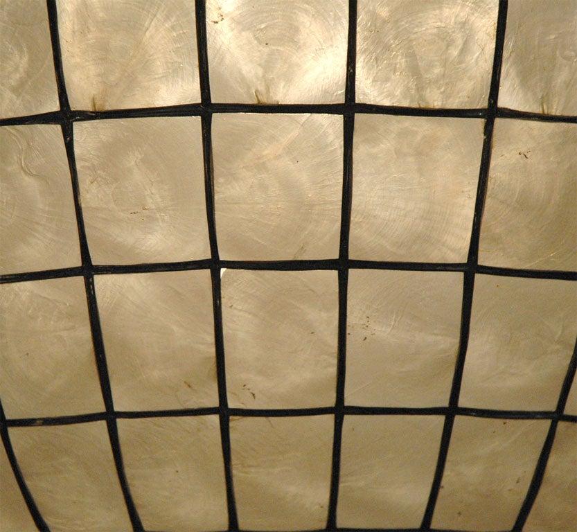 capiz shell globe light at 1stdibs. Black Bedroom Furniture Sets. Home Design Ideas