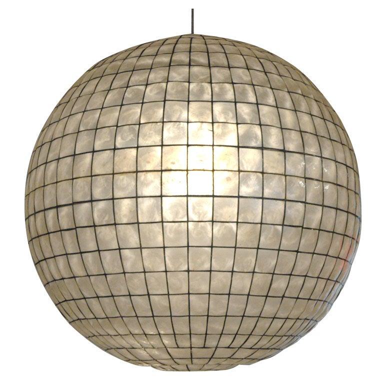 Capiz Shell Globe Light