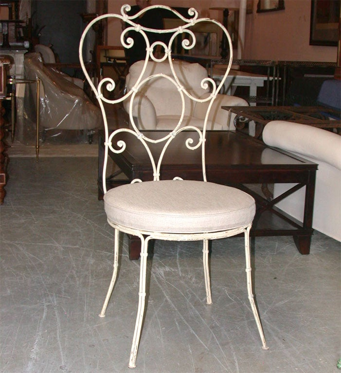 SET OF 10 Painted Iron Chairs image 2