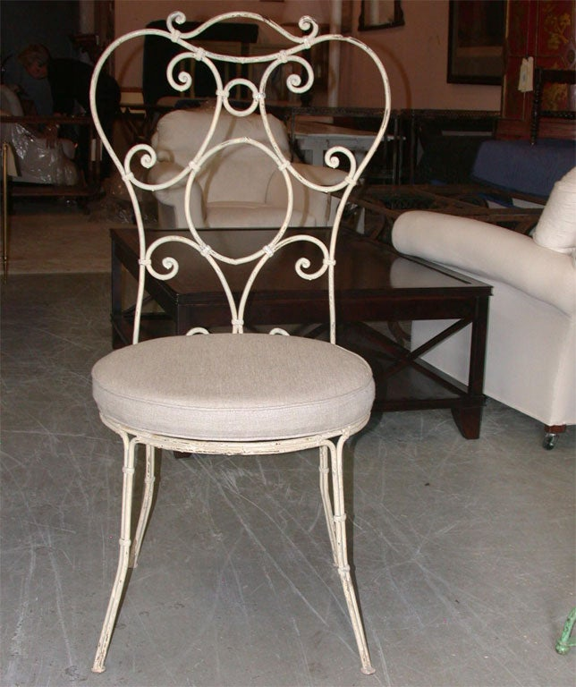 SET OF 10 Painted Iron Chairs image 3
