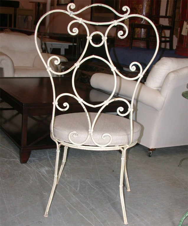 SET OF 10 Painted Iron Chairs image 5