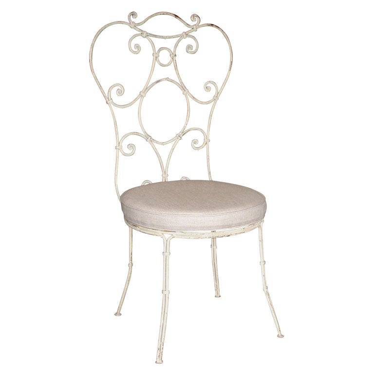 SET OF 10 Painted Iron Chairs