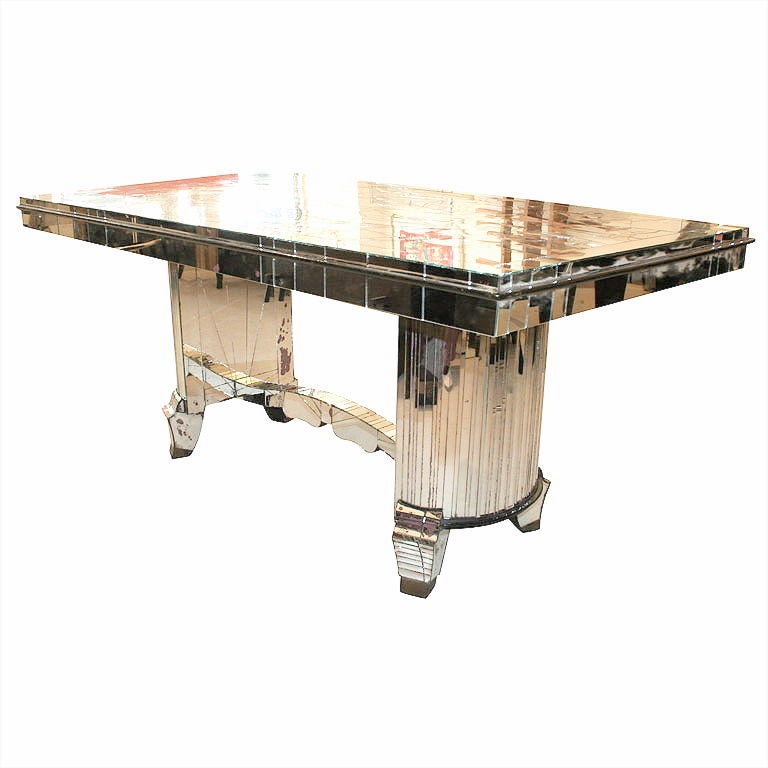 1930s french art deco mirrored dining table at 1stdibs art deco dining room table
