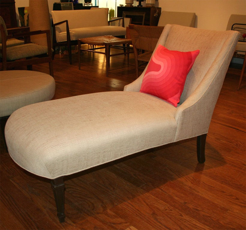 Chaise with vintage verner panton pillow at 1stdibs - Chaise panton blanche ...