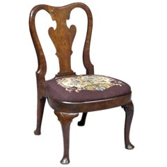 English Period Queen Anne Walnut Side Chair