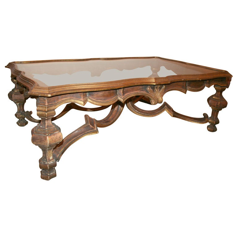 Italian baroque style coffee table at 1stdibs Tuscan style coffee table