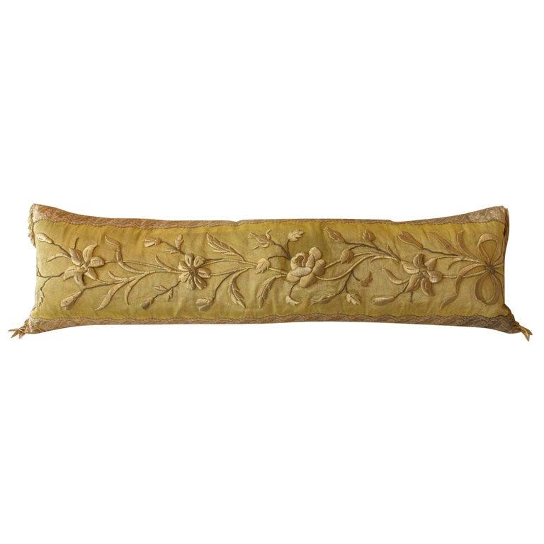 Cloth Of Gold Bolster Pillow At 1stdibs