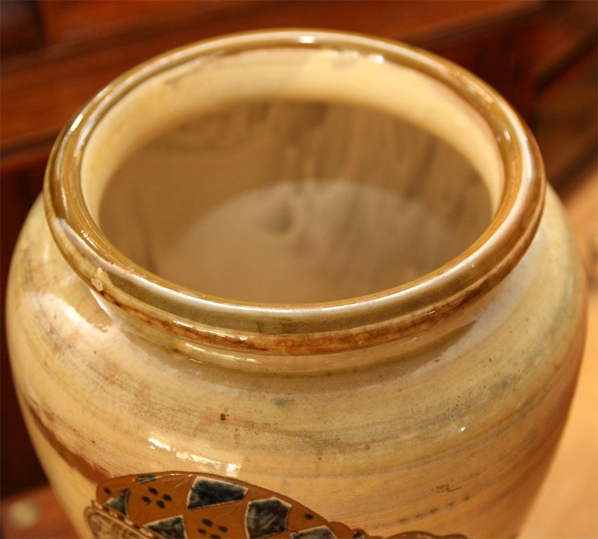 large pottery vase by harald folmer gross for knabstrup for sale at 1stdibs. Black Bedroom Furniture Sets. Home Design Ideas