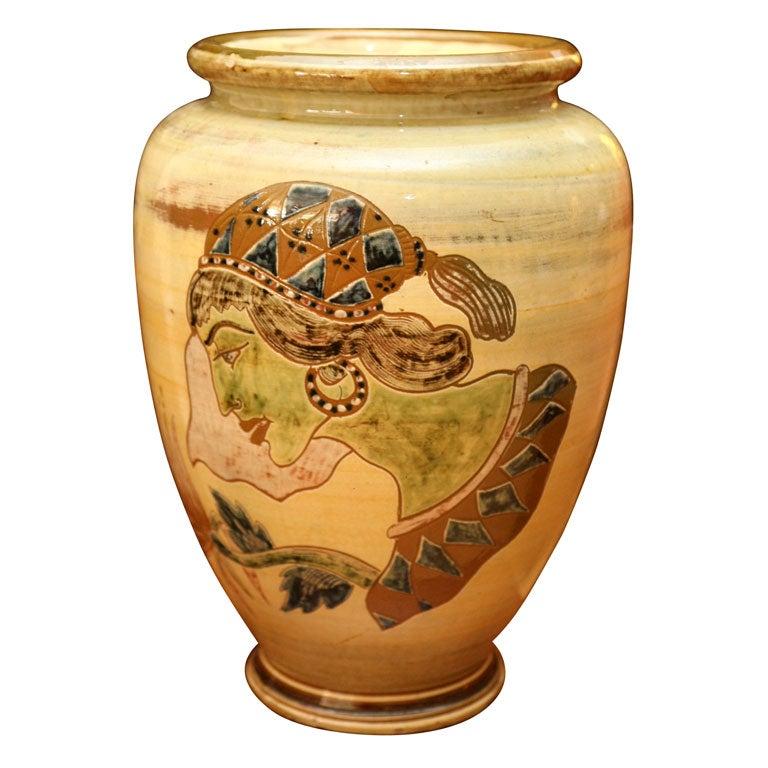 large danish modern ceramic vase by knabstrup for sale at 1stdibs. Black Bedroom Furniture Sets. Home Design Ideas