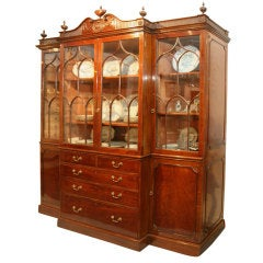 A Fine George III Mahogany Breakfront Cabinet
