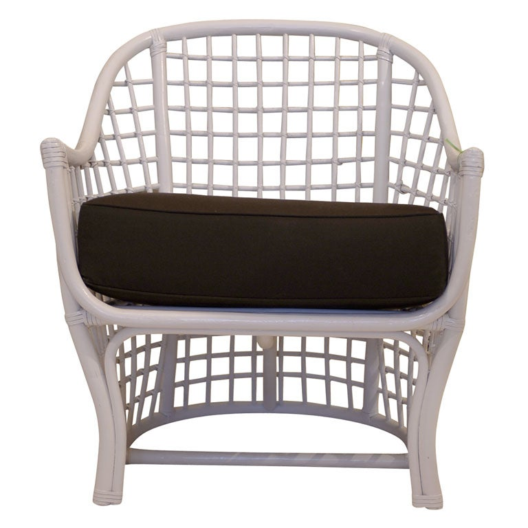 White Rattan Chair At 1stdibs