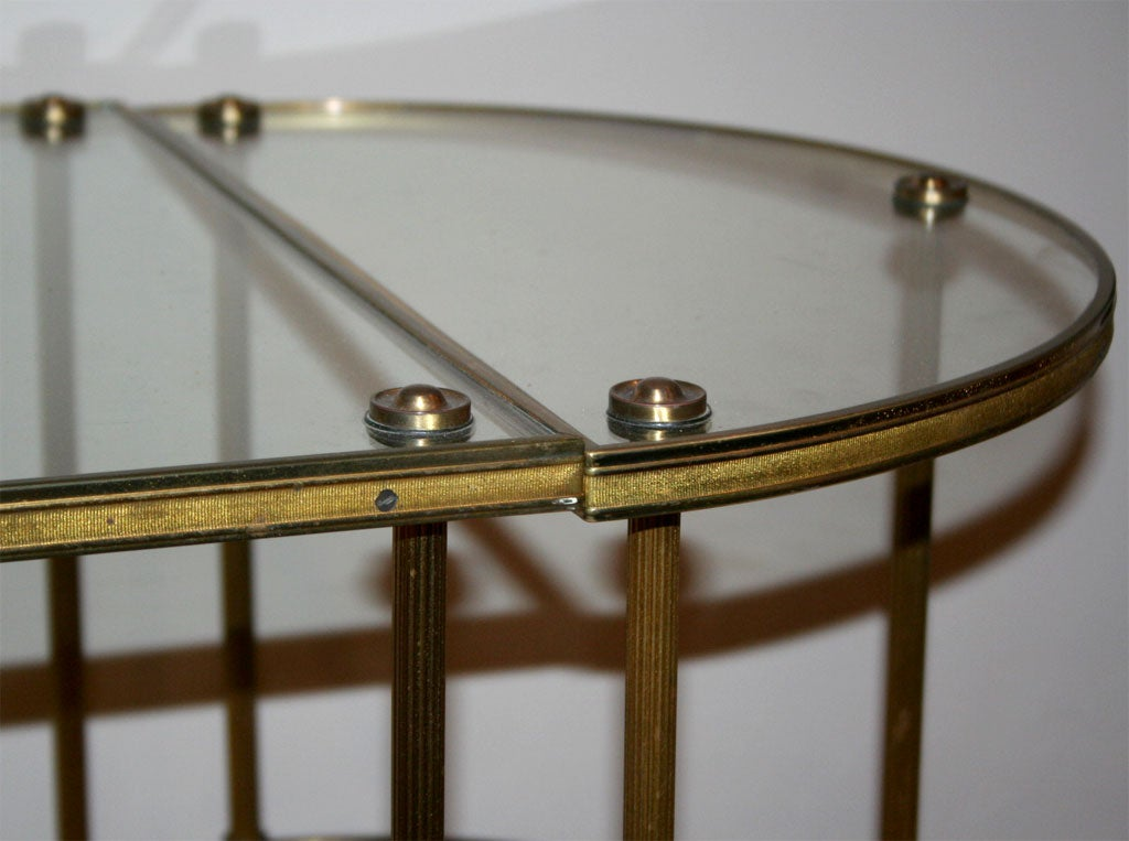 Three Piece Bronze And Glass Coffee Table At 1stdibs