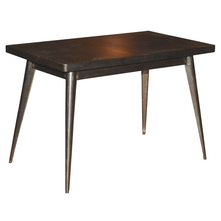 Galvanized writing table at 1stdibs for Table exterieur galvanise