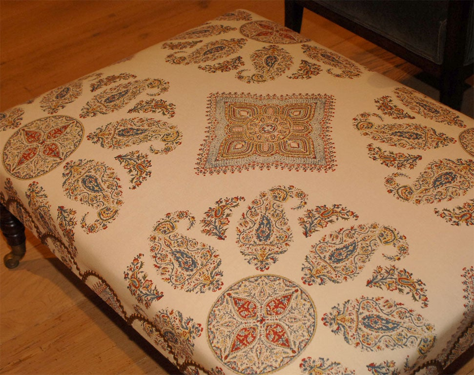 A Large Scale Medallion Upholstered Ottoman At 1stdibs