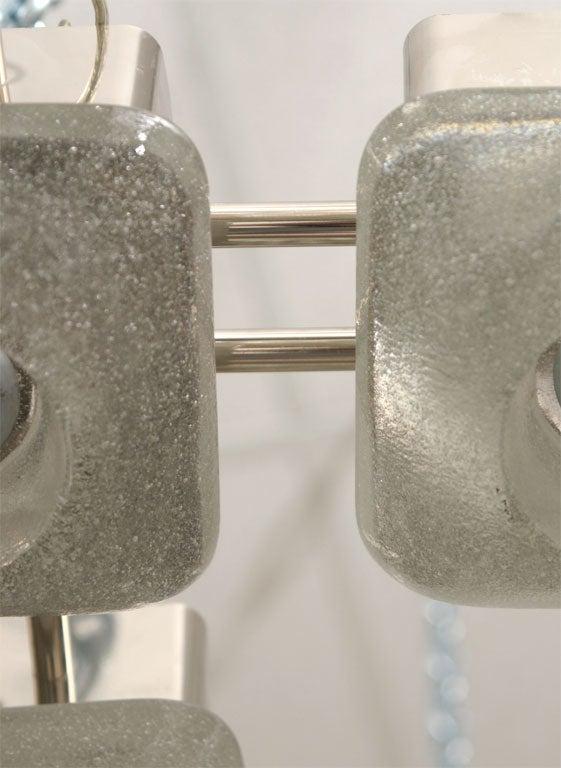 Mazzega Italian Murano Glass Light Fixture For Sale 1