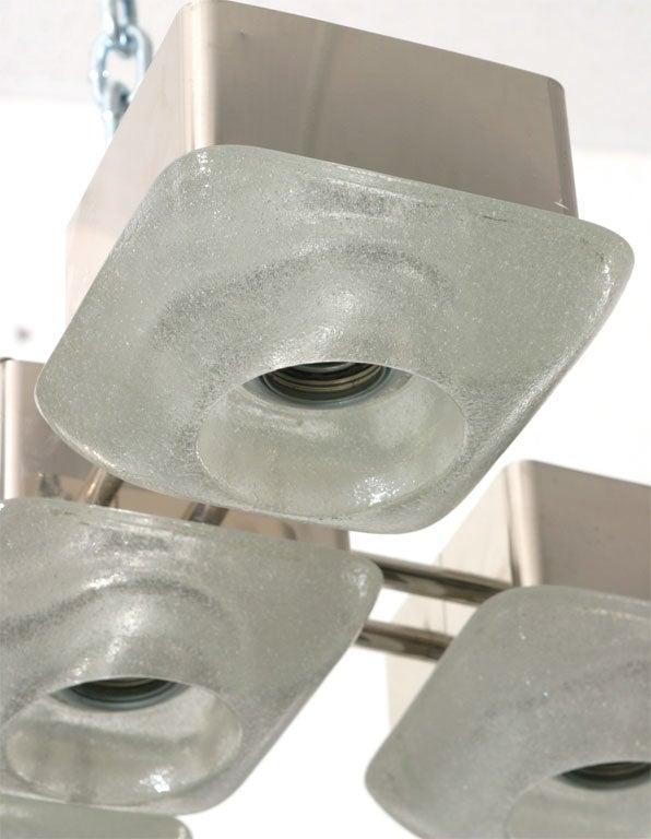 Mazzega Italian Murano Glass Light Fixture For Sale 2