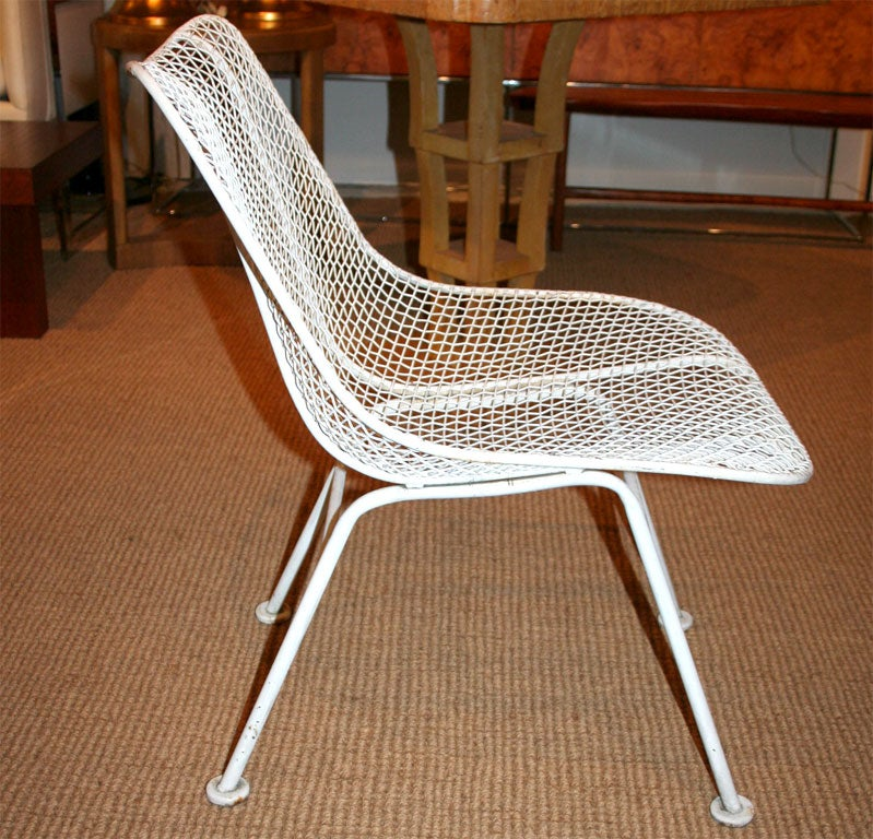 Two Dozen Jet Age Wire Mesh Outdoor Chairs by Woodard For Sale at 1stdibs