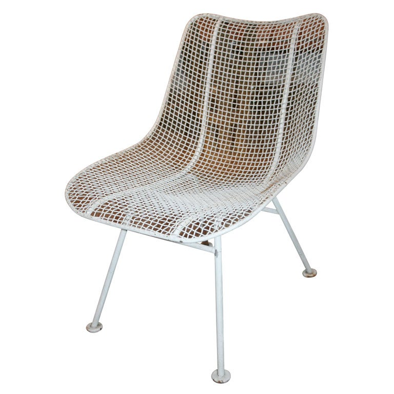Two Dozen Jet Age Wire Mesh Outdoor Chairs by Woodard at 1stdibs