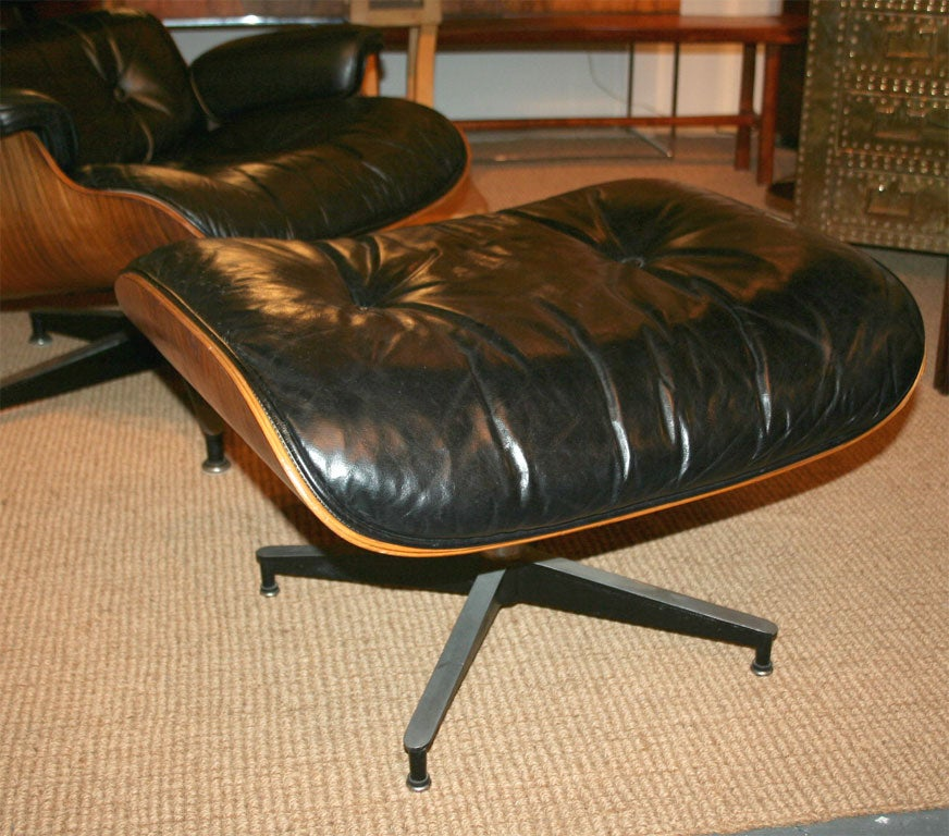 Vintage Rosewood Shell Eames Lounge Chair and Ottoman at 1stdibs