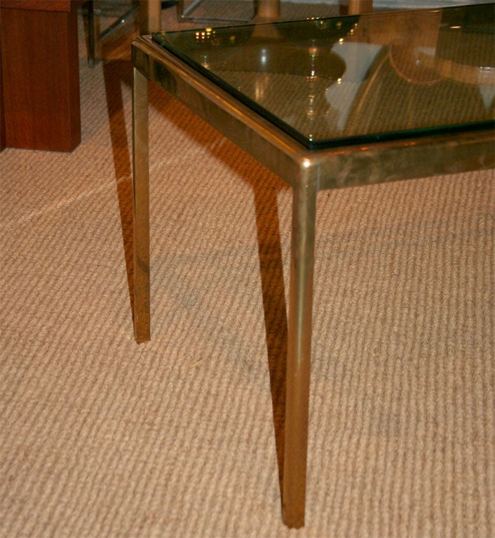 Exceptional bronze and glass cocktail table by scope for for Table th scope